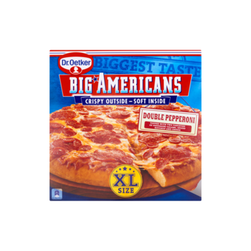 Dr. Oetker big americans xl pizza double pepperoni 565 g Jumbo
