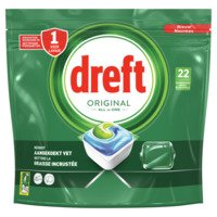 Dreft All in one vaatwastabletten original 24 stuks Albert Heijn