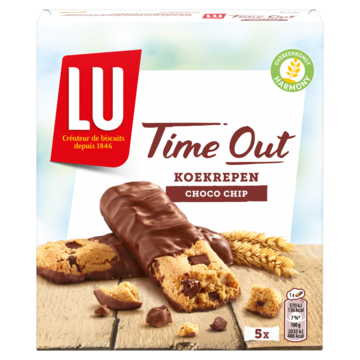Lu Time Out koek repen choco chip 5 koekjes 140g Jumbo