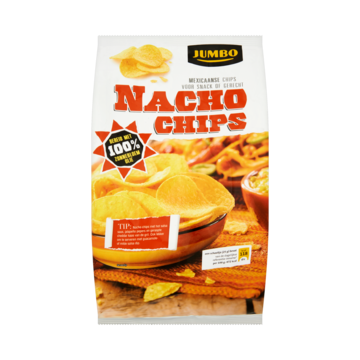 Nacho chips naturel 200 g Jumbo