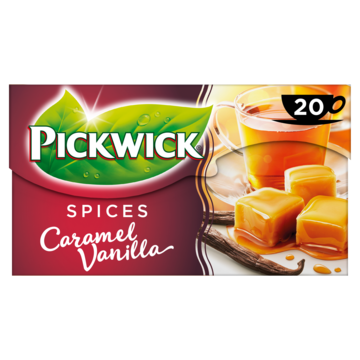 Pickwick spices caramelised vanilla zwarte thee 20 stuks Jumbo